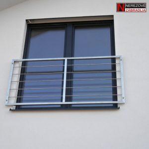 Francúzske okno - Nerezová vyplň